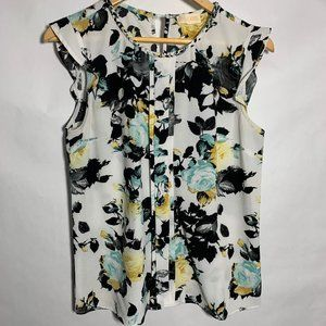 Lucy & Laurel Anthropologie SS Blouse Floral M